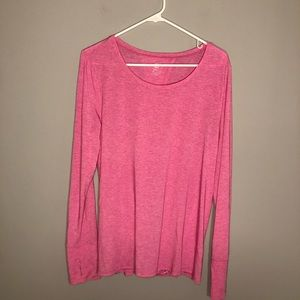 Gap Fit Womens Pink Open Back Snap Bottom Top L
